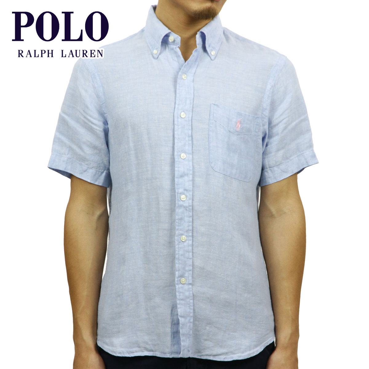 c4fedeab Polo Ralph Lauren POLO RALPH LAUREN regular article men short-sleeved shirt  HEMP BUTTON DOWN ...
