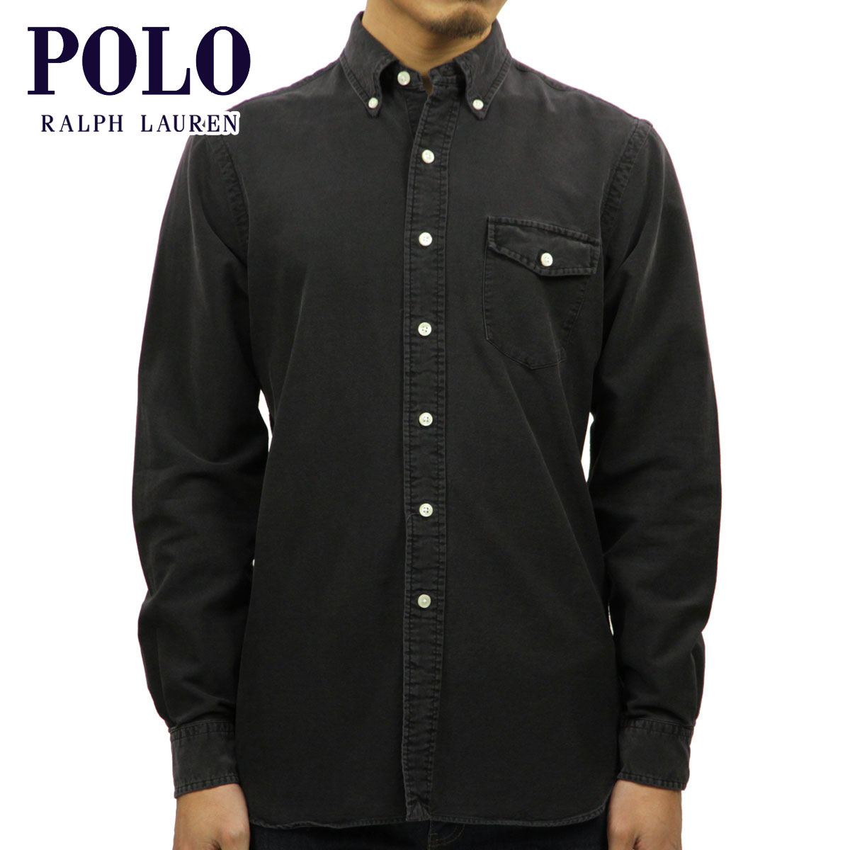 9d987c9b Polo Ralph Lauren shirt men's regular article POLO RALPH LAUREN long  sleeves shirt button-down shirt CLASSIC FIT OXFORD SHIRT BLACK