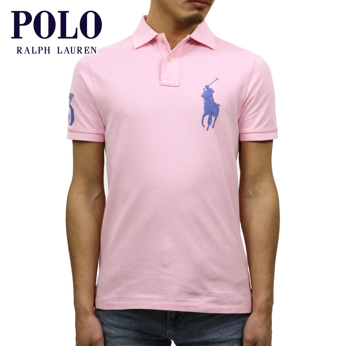 d6fd72de1e Polo Ralph Lauren POLO RALPH LAUREN regular article men big pony short  sleeves polo shirt BIG PONY CUSTOM SLIM FIT COTTON MESH POLO