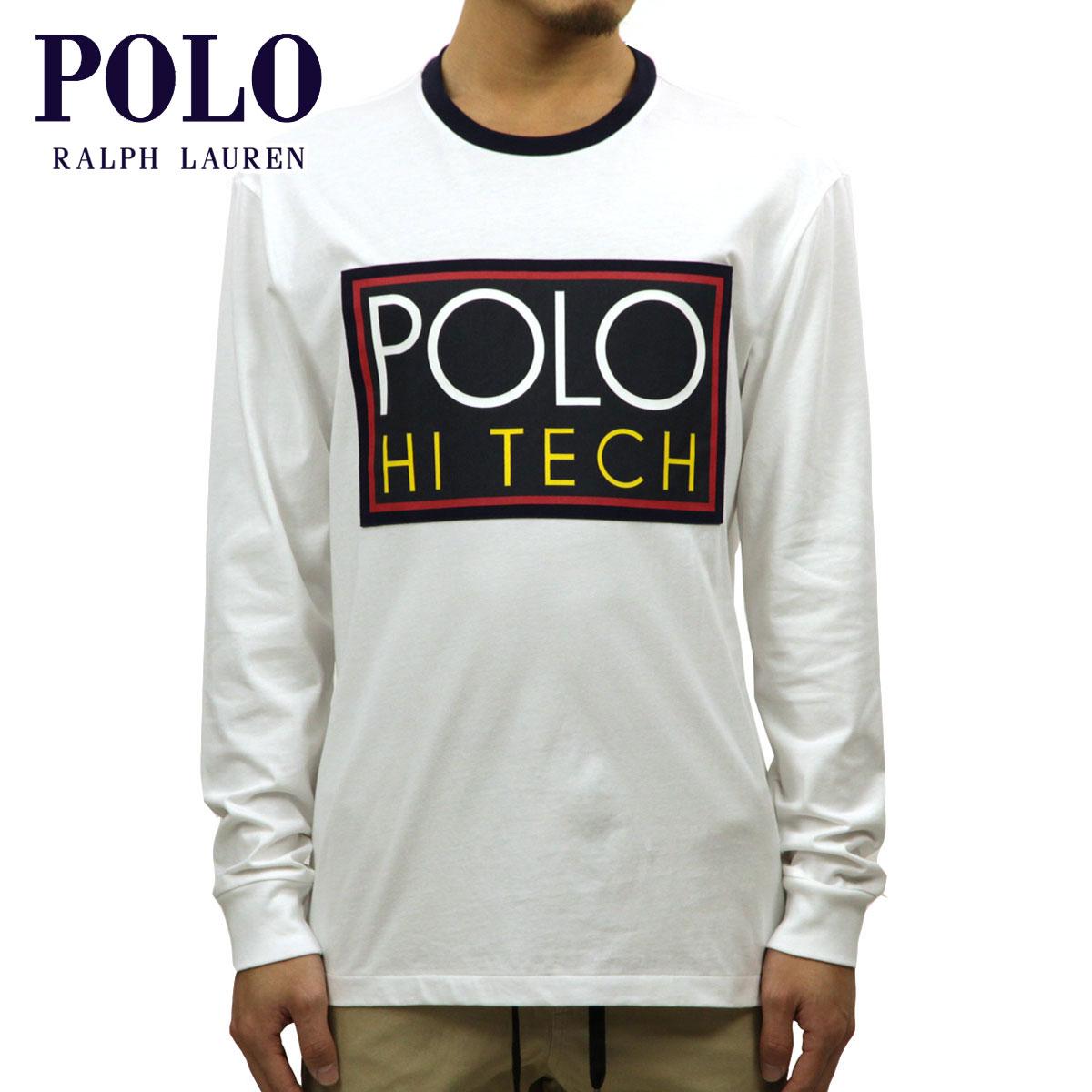 ポロ ラルフローレン POLO RALPH LAUREN 正規品 メンズ 長袖Tシャツ HI TECH LOGO GRAPHIC LONG-SLEEVE T-SHIRT WHITE