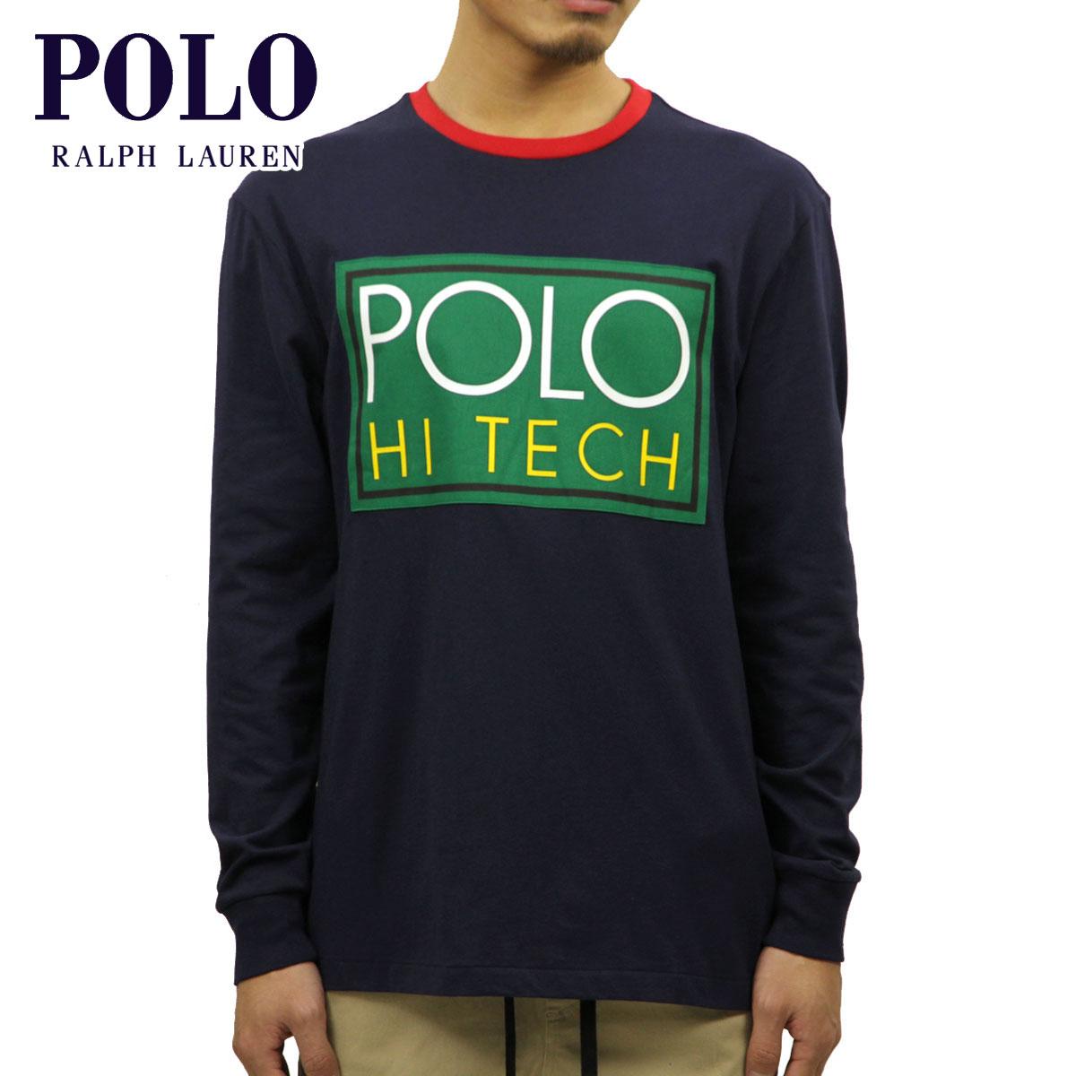ポロ ラルフローレン POLO RALPH LAUREN 正規品 メンズ 長袖Tシャツ HI TECH LOGO GRAPHIC LONG-SLEEVE T-SHIRT CRUISE NAVY
