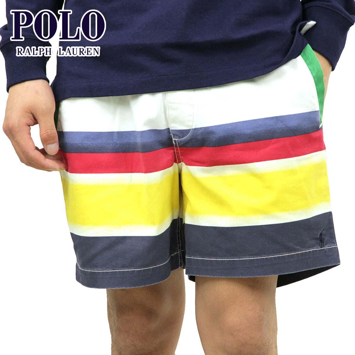 ポロ ラルフローレン ショートパンツ メンズ 正規品 POLO RALPH LAUREN ボトムス コットンハーフパンツ ボーダー柄 STRIPE CLASSIC FIT SHORT PANTS