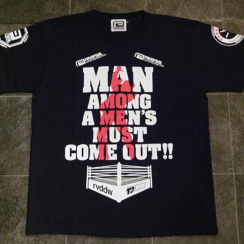 负片REVERSAL正规的店铺T恤MAN AMONG A MEN'S MUST COME OUT TEE限定负片×高田体育馆协作