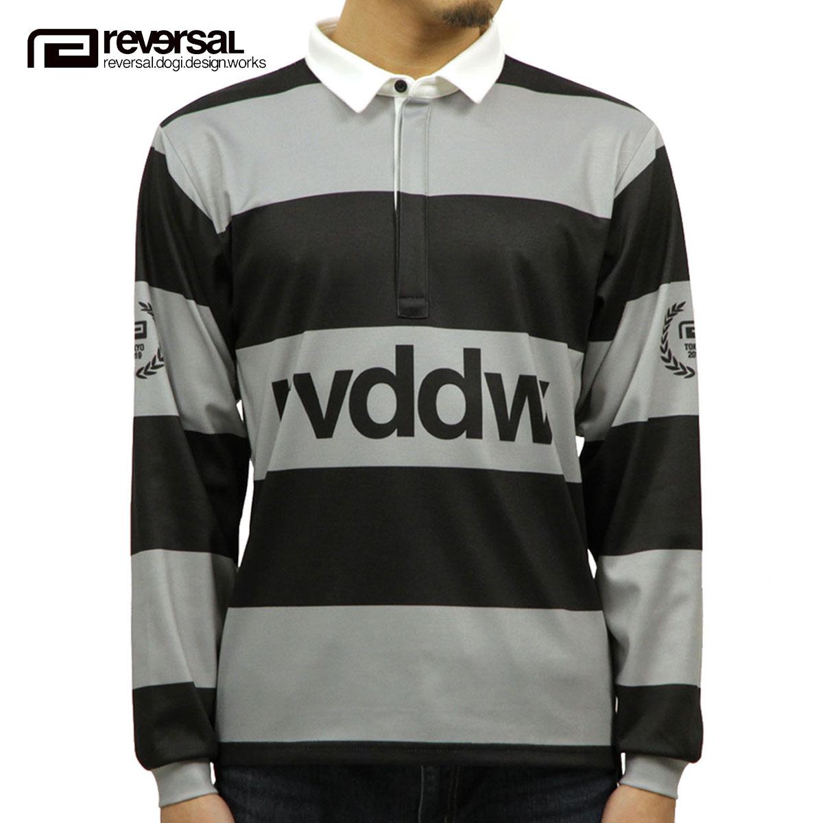 リバーサル ラガーシャツ メンズ 正規販売店 REVERSAL 長袖ラガーシャツ DRY RUGGER SHIRTS rv19ss023 BLACK