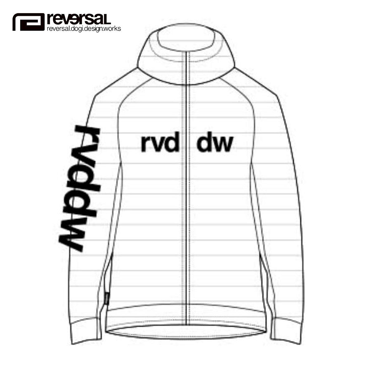 予約商品 6月頃入荷予定 リバーサル REVERSAL 正規販売店 メンズ ジップアップパーカー rvddw RASH PARKA rv19ss051 WHITE