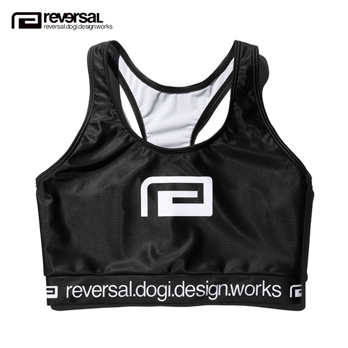 62f0cbb3ebfd1 Is going to be received reservation product about July  reversal REVERSAL  regular store Lady s inner sports bra BIG MARK ACTIVE BRA rv19ss039 BLACK