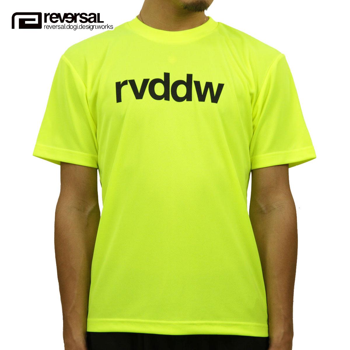 リバーサル Tシャツ 正規販売店 REVERSAL 半袖Tシャツ クルーネック ロゴ メッシュ地 rvddw DRY TEE rvbs029 NEON YELLOW
