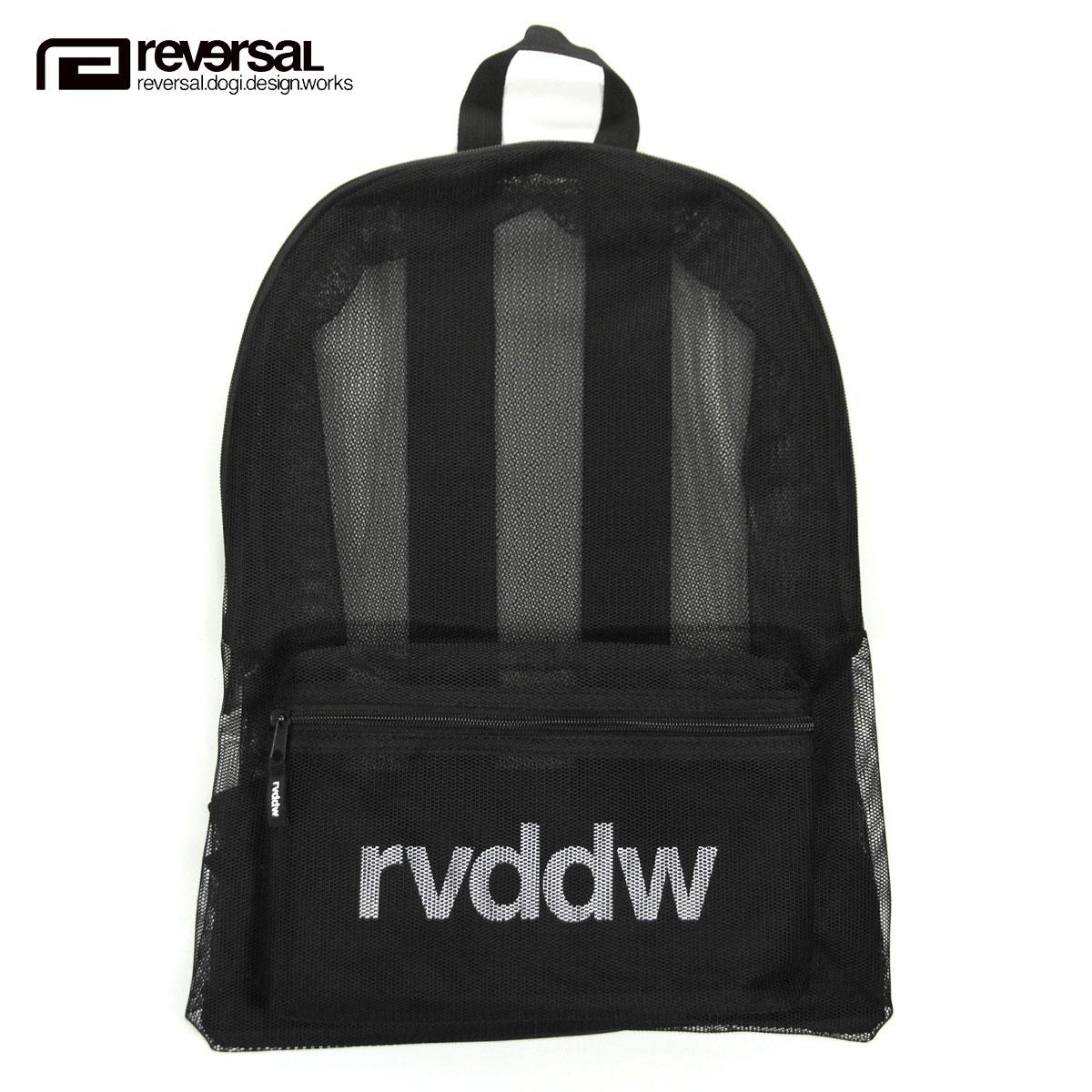 リバーサル バックパック メンズ レディース 正規販売店 REVERSAL リュックサック バッグ rvddw MESH BACK PACK rv20ss706 BLACK 父の日