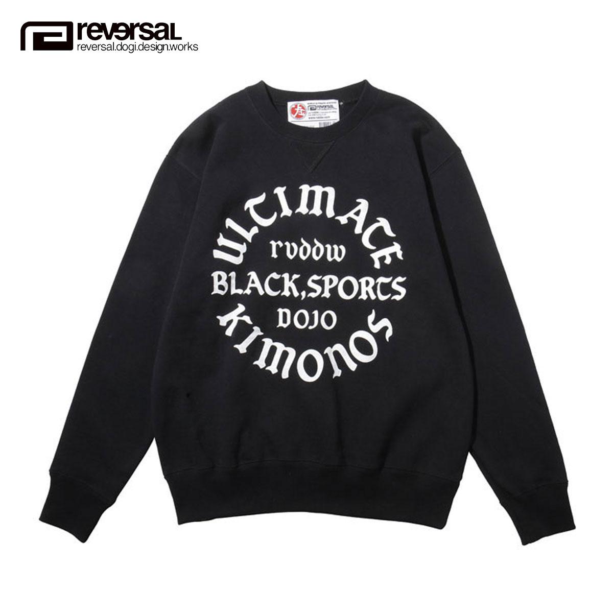 リバーサル REVERSAL 正規販売店 メンズ スウェット ULTIMATE KIMONOS CREW SWEAT rvap16aw006 APPAREL BLACK D00S20