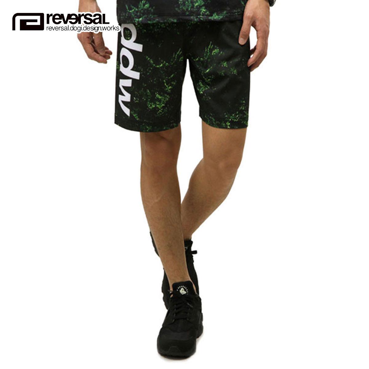 リバーサル REVERSAL 正規販売店 メンズ ショートパンツ BLACK FOREST YGC FIGHT SHORTS rv17ss031 FOREST GREEN