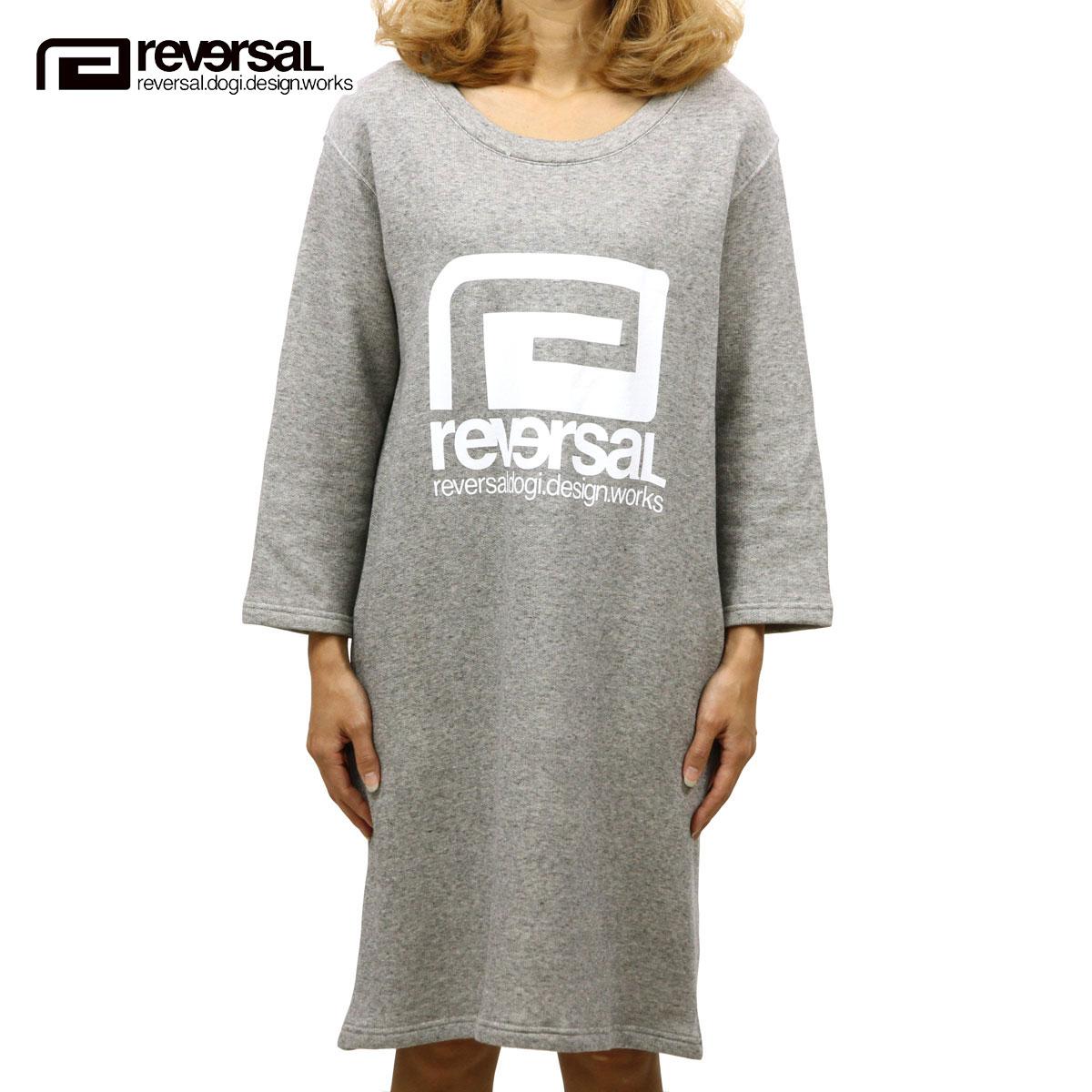リバーサル REVERSAL 正規販売店 レディース ワンピース BIG MARK SWEAT ONEPIECE for Ladys rv17aw025 HEATHER GRAY
