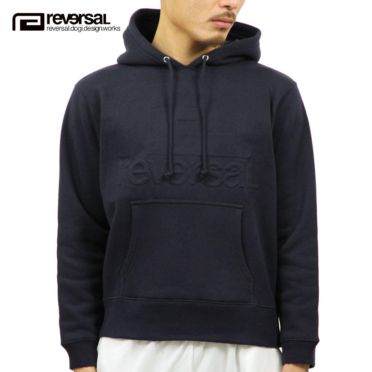 リバーサル REVERSAL 正規販売店 メンズ プルオーバーパーカー EMBOSS LOGO SWEAT PARKA rv17aw015 NAVY