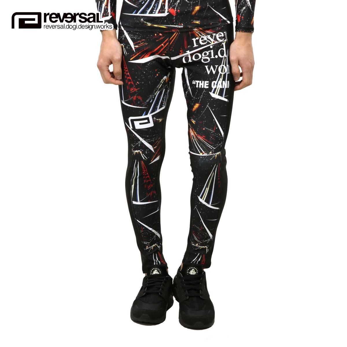 リバーサル REVERSAL 正規販売店 メンズ スパッツ NIGHT RACE LONG SPATS rv17aw034 BLACK
