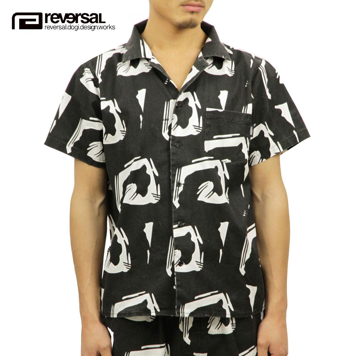リバーサル REVERSAL 正規販売店 メンズ 半袖 アロハシャツ EDO BIG MARK SHIRTS rv18ss033 BLACK
