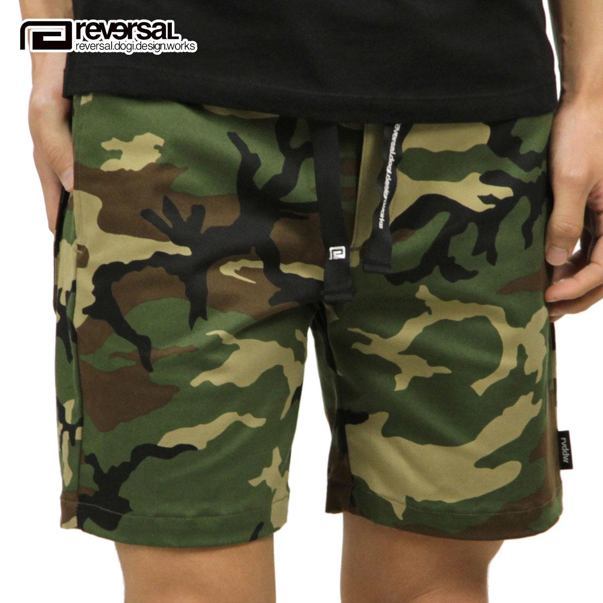 リバーサル REVERSAL 正規販売店 メンズ 迷彩柄 ショートパンツ BLACK BELT 4 POCKET SHORTS rv18ss040 WOODLAND CAMO
