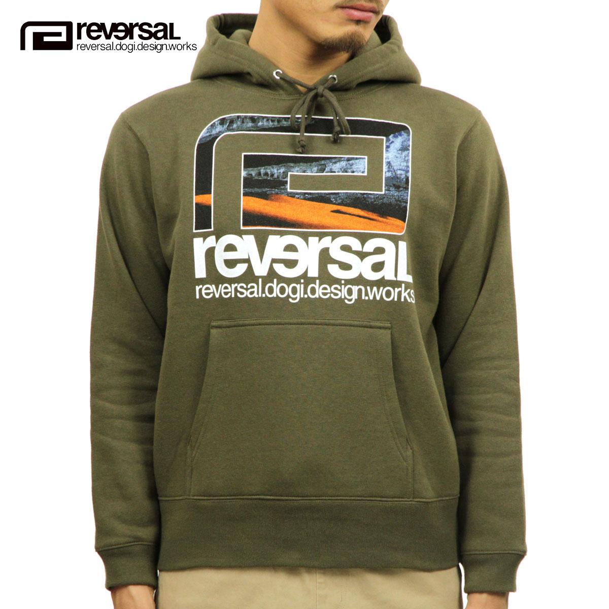 リバーサル REVERSAL 正規販売店 メンズ プルオーバーパーカー PANGEA SWEAT PARKA rv18aw014 OLIVE