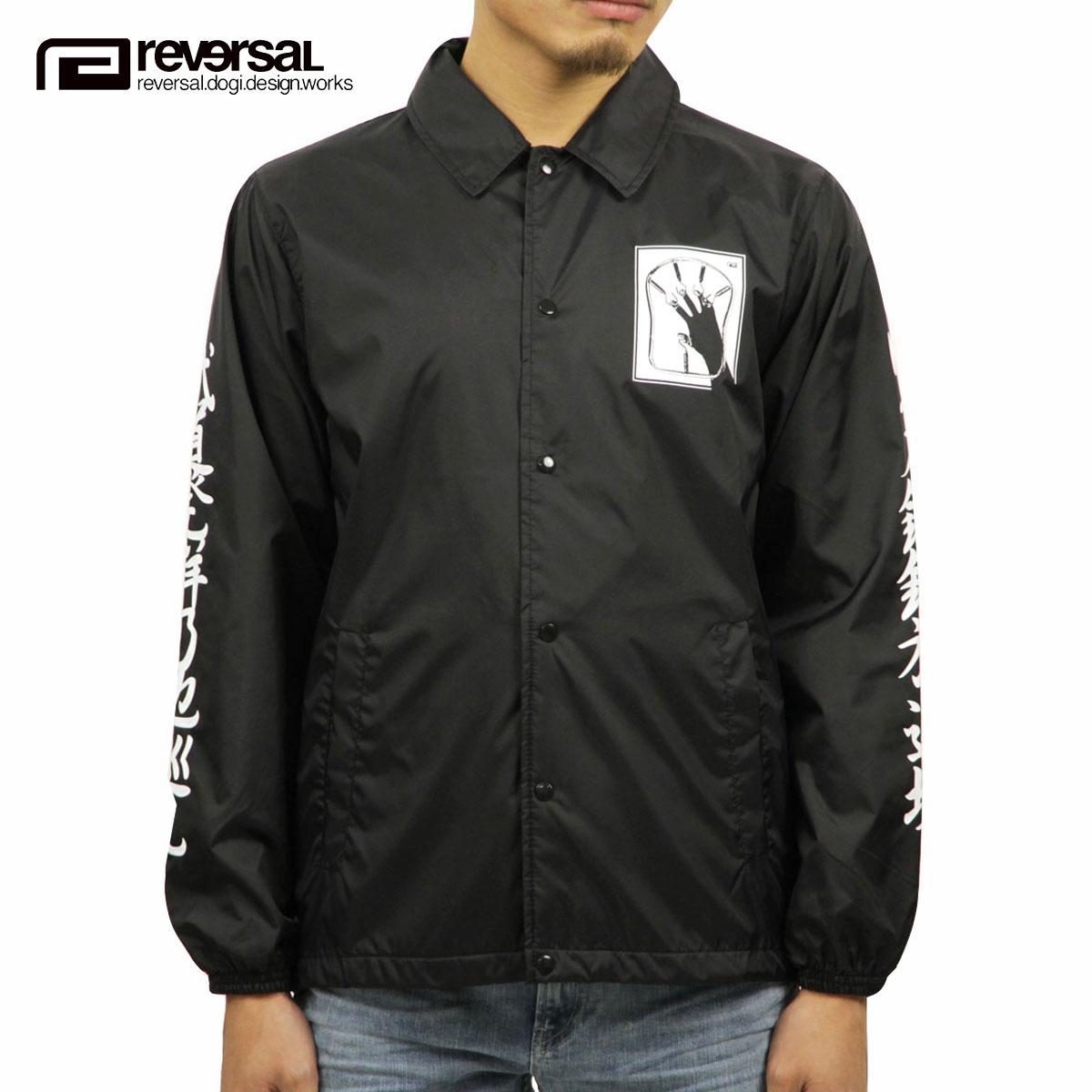 リバーサル REVERSAL 正規販売店 メンズ アウター コーチジャケット IRON FIST COACH JKT rv18aw005 BLACK