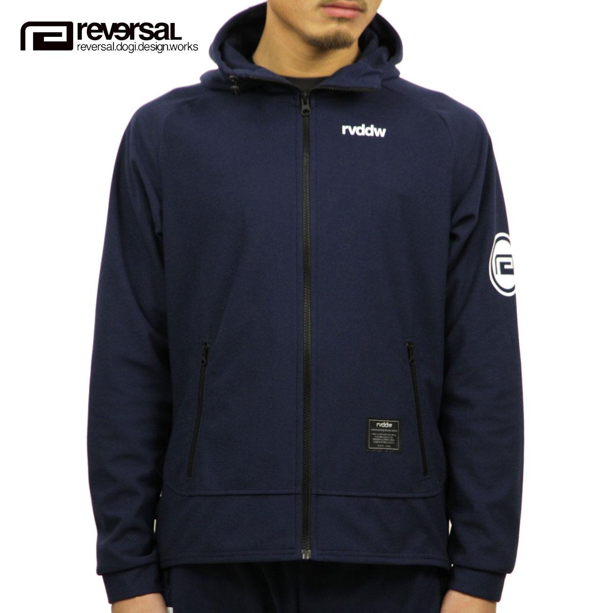 リバーサル REVERSAL 正規販売店 メンズ アウター ジップアップジャケット TECH ZIP UP HOODIE rv18aw006 NAVY