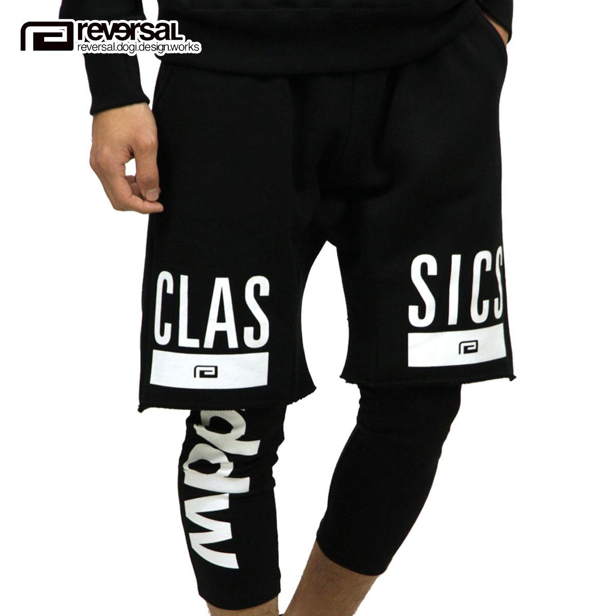リバーサル REVERSAL 正規販売店 メンズ レイヤードスウェットショートパンツ CLASSICS LAYERED SHORT PANTS rv18aw009 BLACK