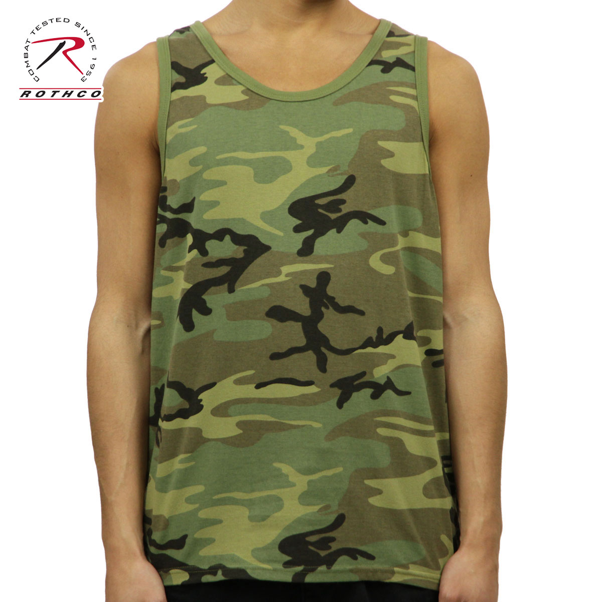 9940192fbb6 ロスコタンクトップメンズ regular article ROTHCO Vintage Woodland Camo Tank Top 9593  D00S20