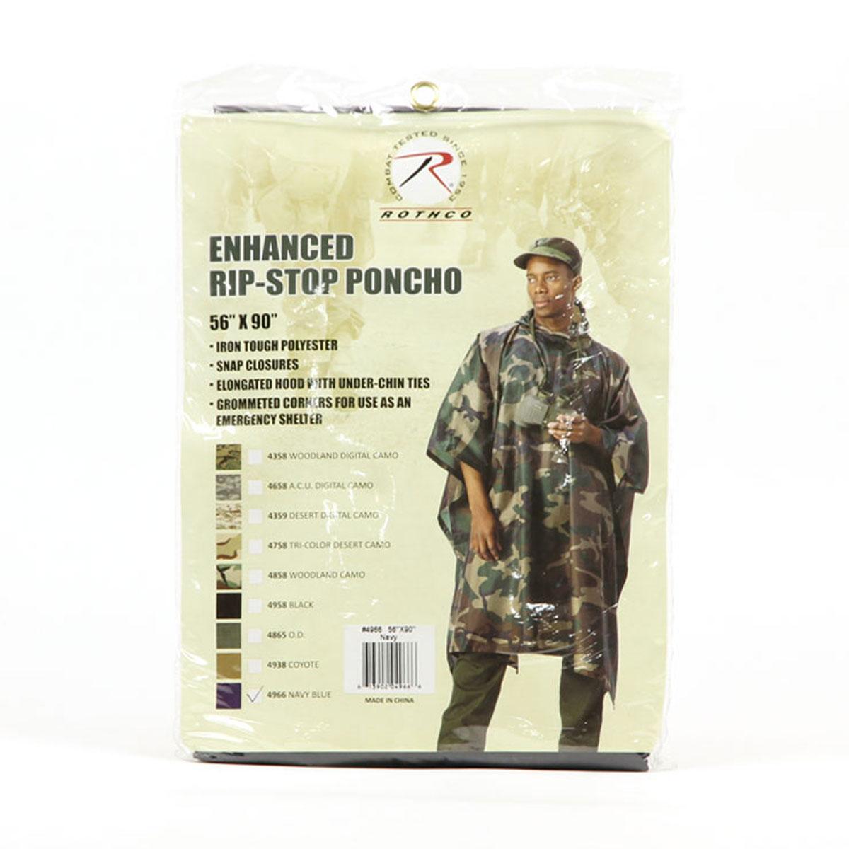 Rothko ROTHCO genuine men's raincoat G... I... Type Navy Blue Rip-Stop Poncho 4966