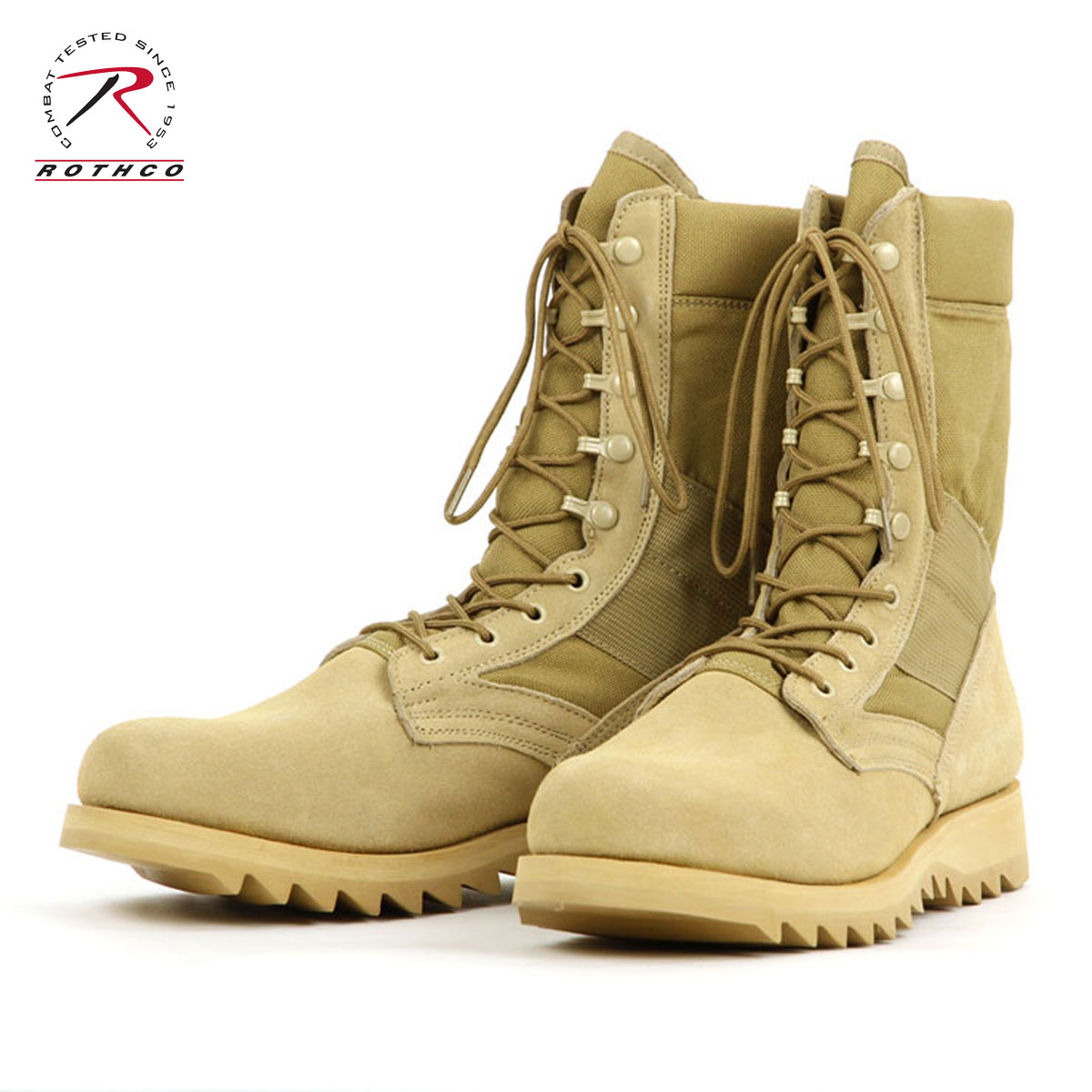 ロスコ ROTHCO 正規品 メンズ ブーツ G.I. Type Desert Tan Ripple Sole Jungle Boots 5058 D00S20
