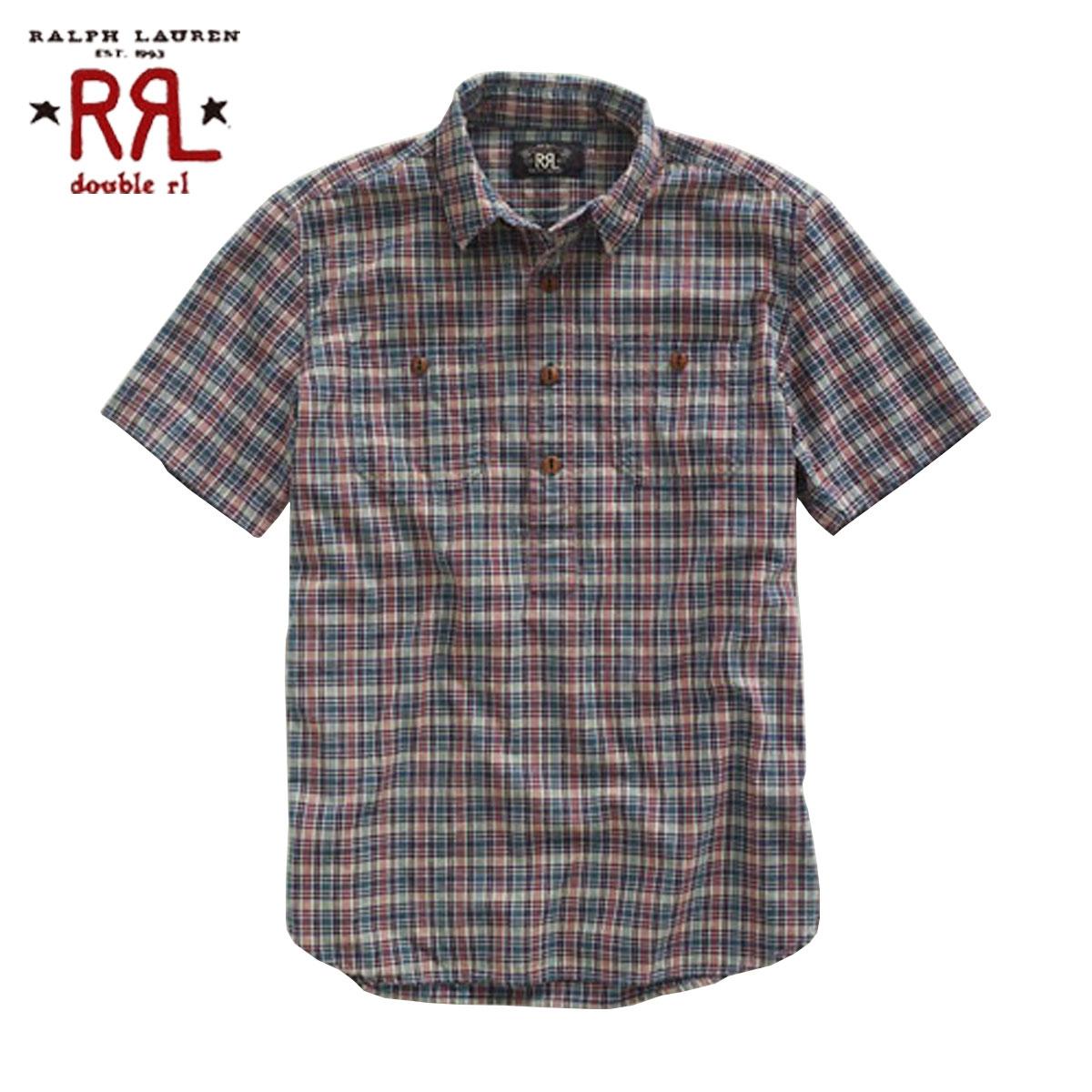 販売期間 5 20 10:00~5 30 09:59 バースデー 記念日 ギフト 贈物 お勧め 通販 ダブルアールエル RRL 正規品 Plaid D20S30 半袖ワークシャツ Shirt ランキングTOP5 メンズ Reliance