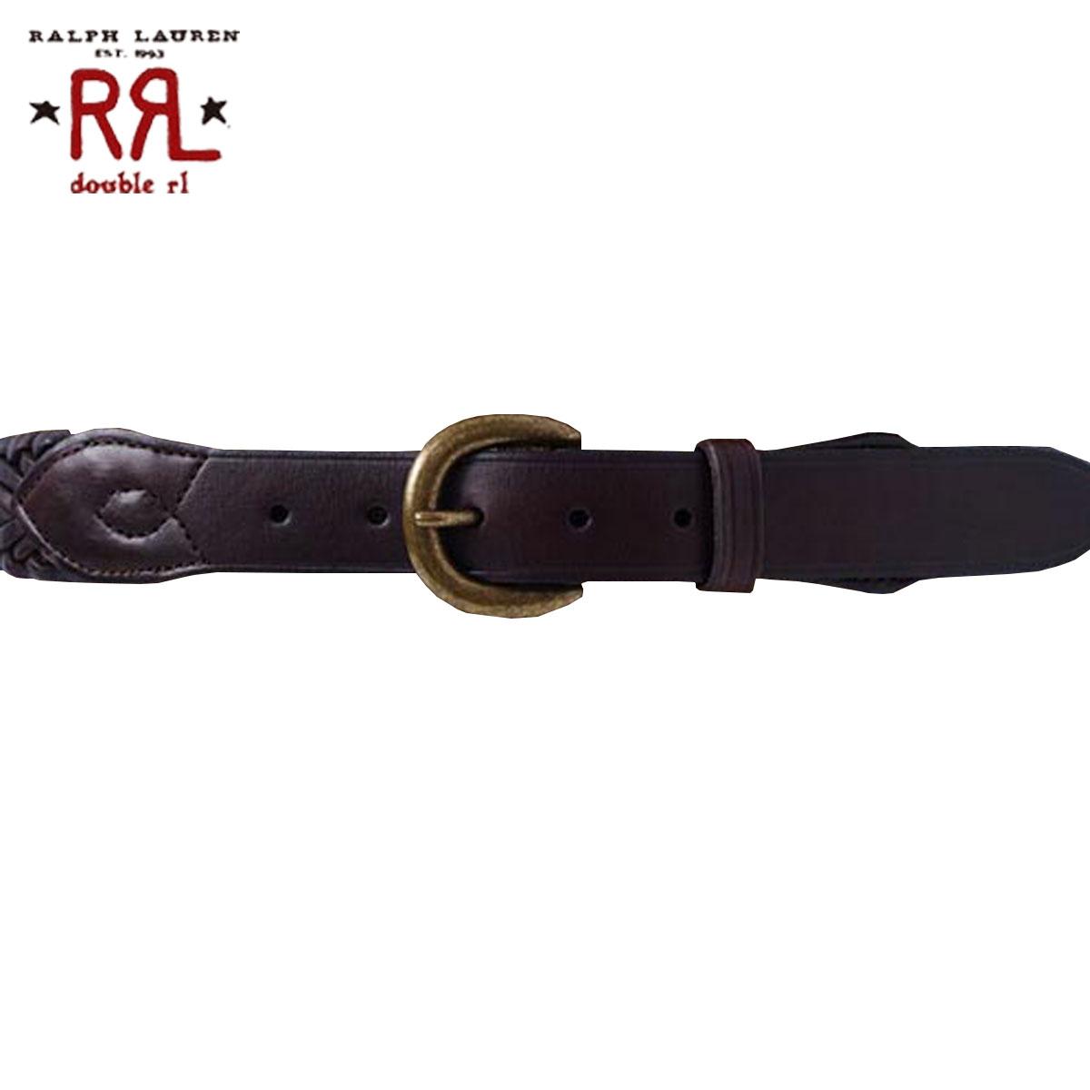 ダブルアールエル RRL 正規品 メンズ ベルト Leather Greenock Belt D20S30