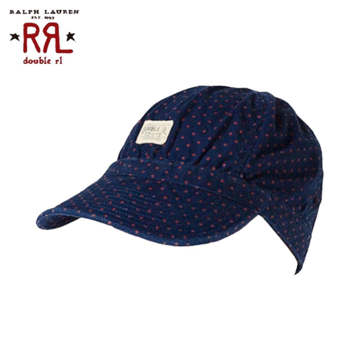 ダブルアールエル RRL 正規品 メンズ 帽子 キャップ ネイビー Railman's Cap D20S30