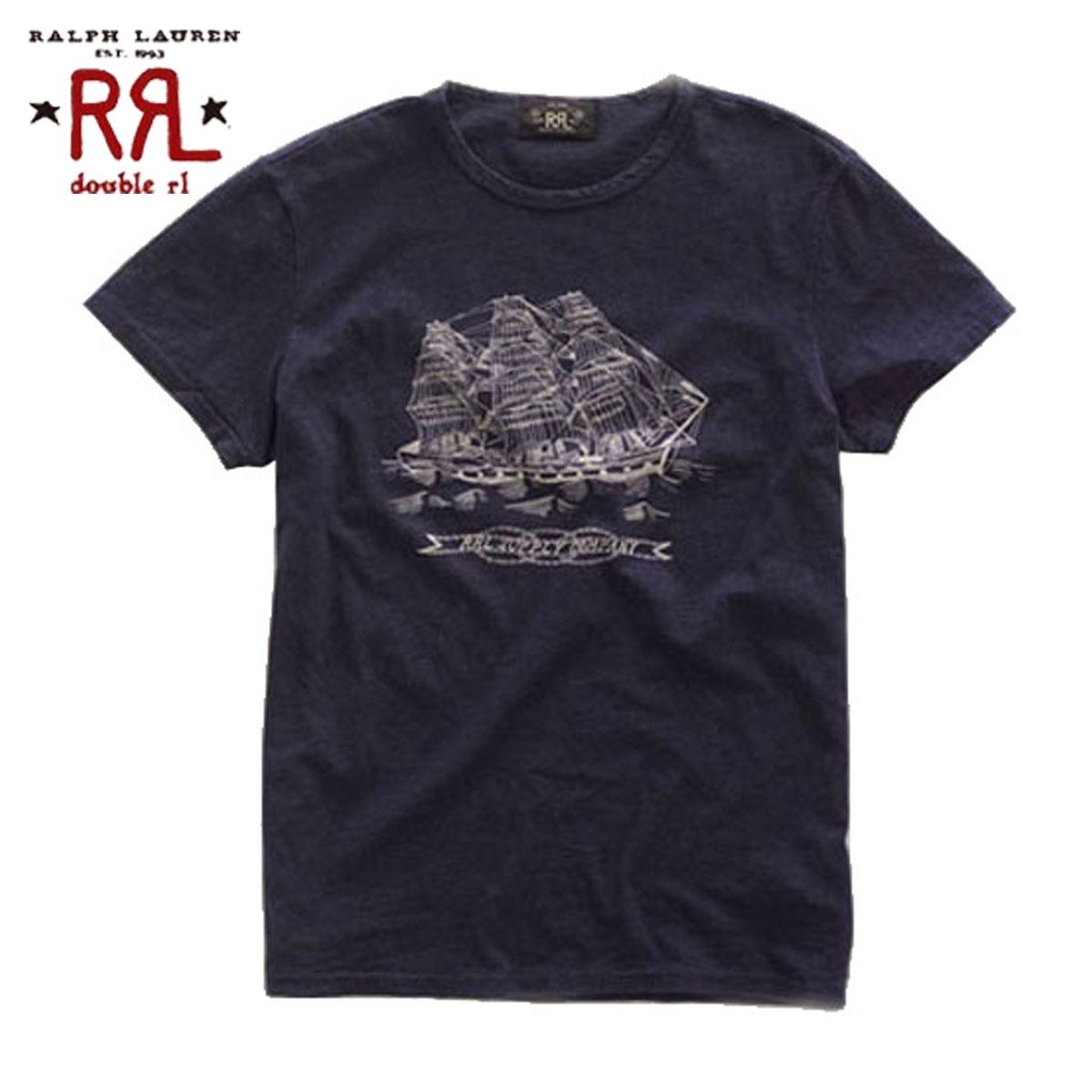 【販売期間 4/2 10:00~4/8 09:59】 ダブルアールエル RRL 正規品 メンズ 半袖Tシャツ Nautical Graphic T-Shirt D20S30