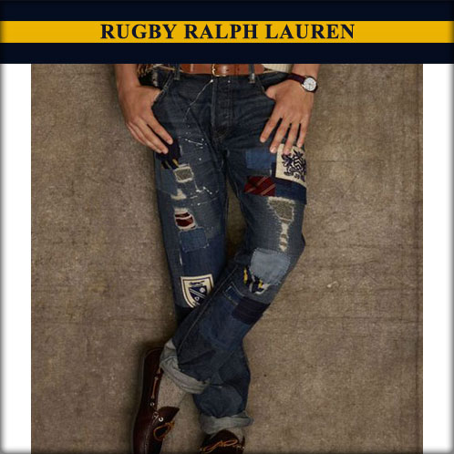 Ralph Lauren Rugby RUGBY RALPH LAUREN genuine men's slim jeans Repaired Vintage Slim Jean 10P28Sep16