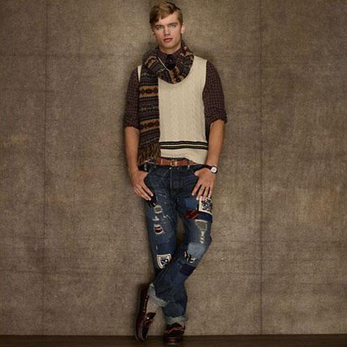 Ralph Lauren Rugby RUGBY RALPH LAUREN genuine men's slim jeans Repaired Vintage Slim Jean 10P28Sep16