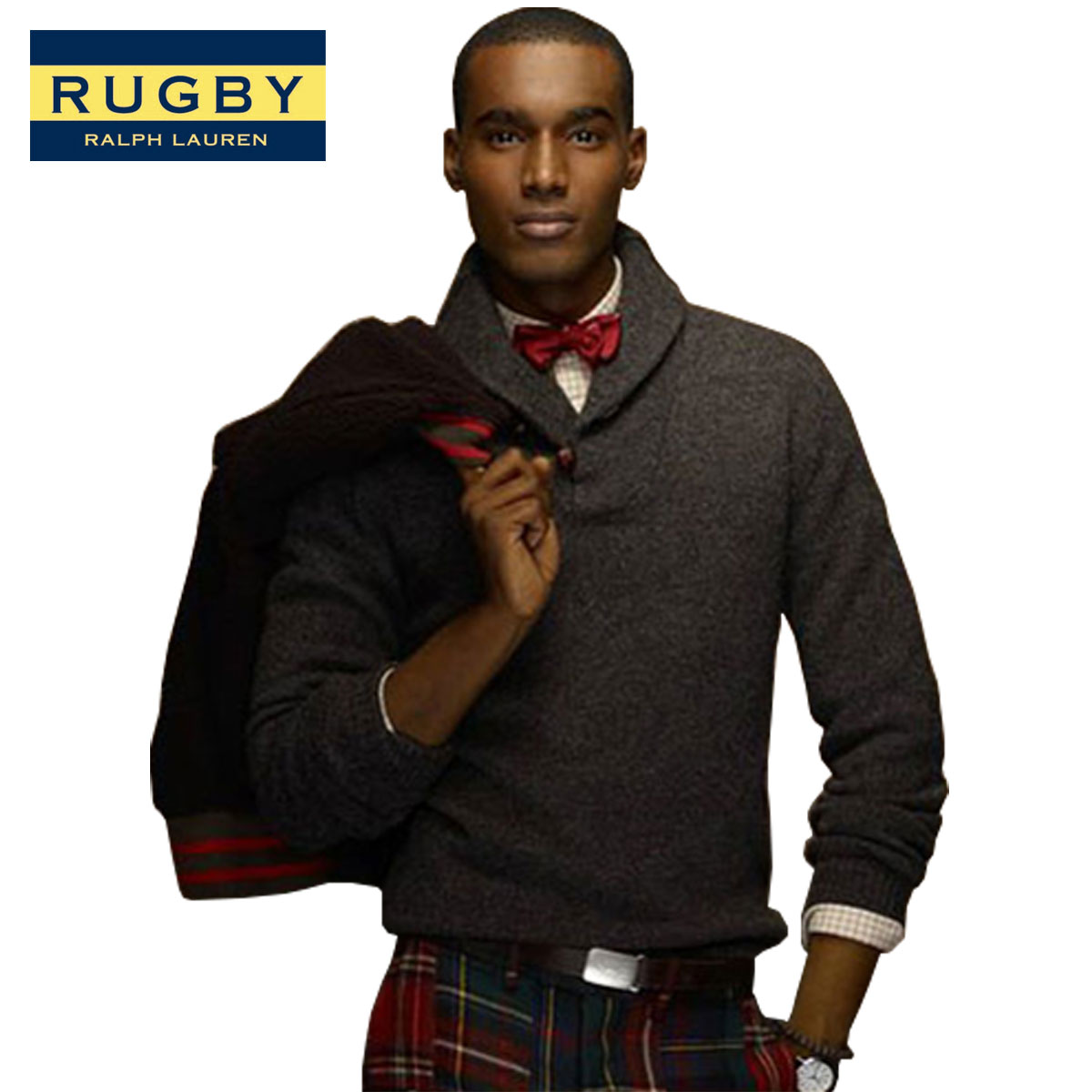 【販売期間 4/2 10:00~4/8 09:59】 ラルフローレン ラグビー RUGBY RALPH LAUREN 正規品 メンズ ショールプルオーバー Shawl Pullover CHARCOAL D20S30