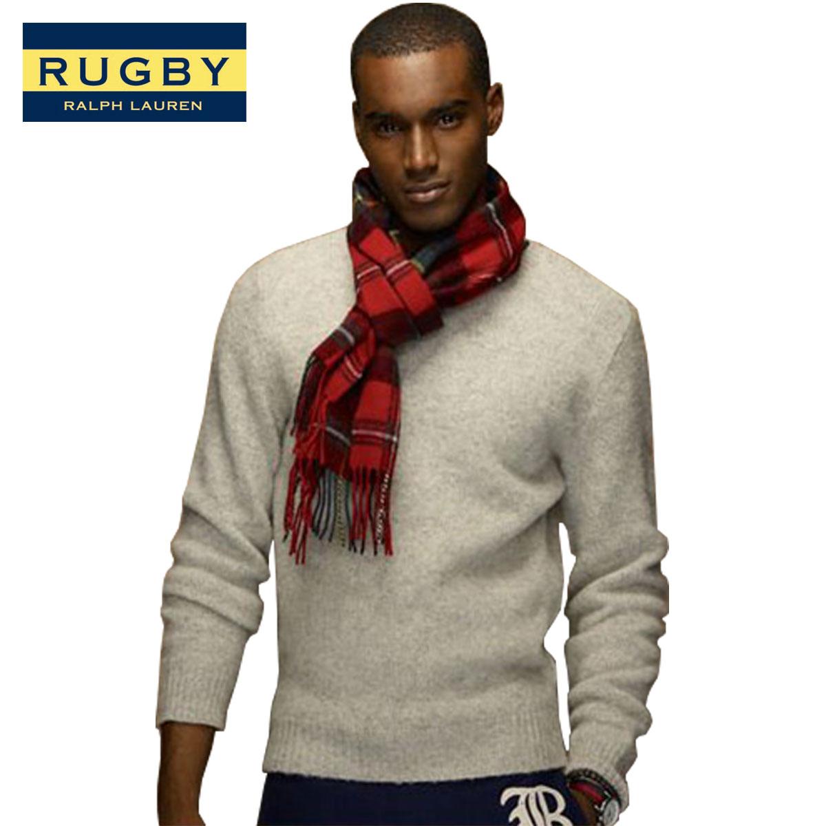 ラルフローレン ラグビー RUGBY RALPH LAUREN 正規品 メンズ セーター Shetland Sweater GREY D35S45