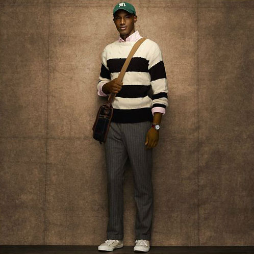 Ralph Lauren Rugby Genuine Men S Sweater Striped Cable Boatneck White Black 10p22jul14