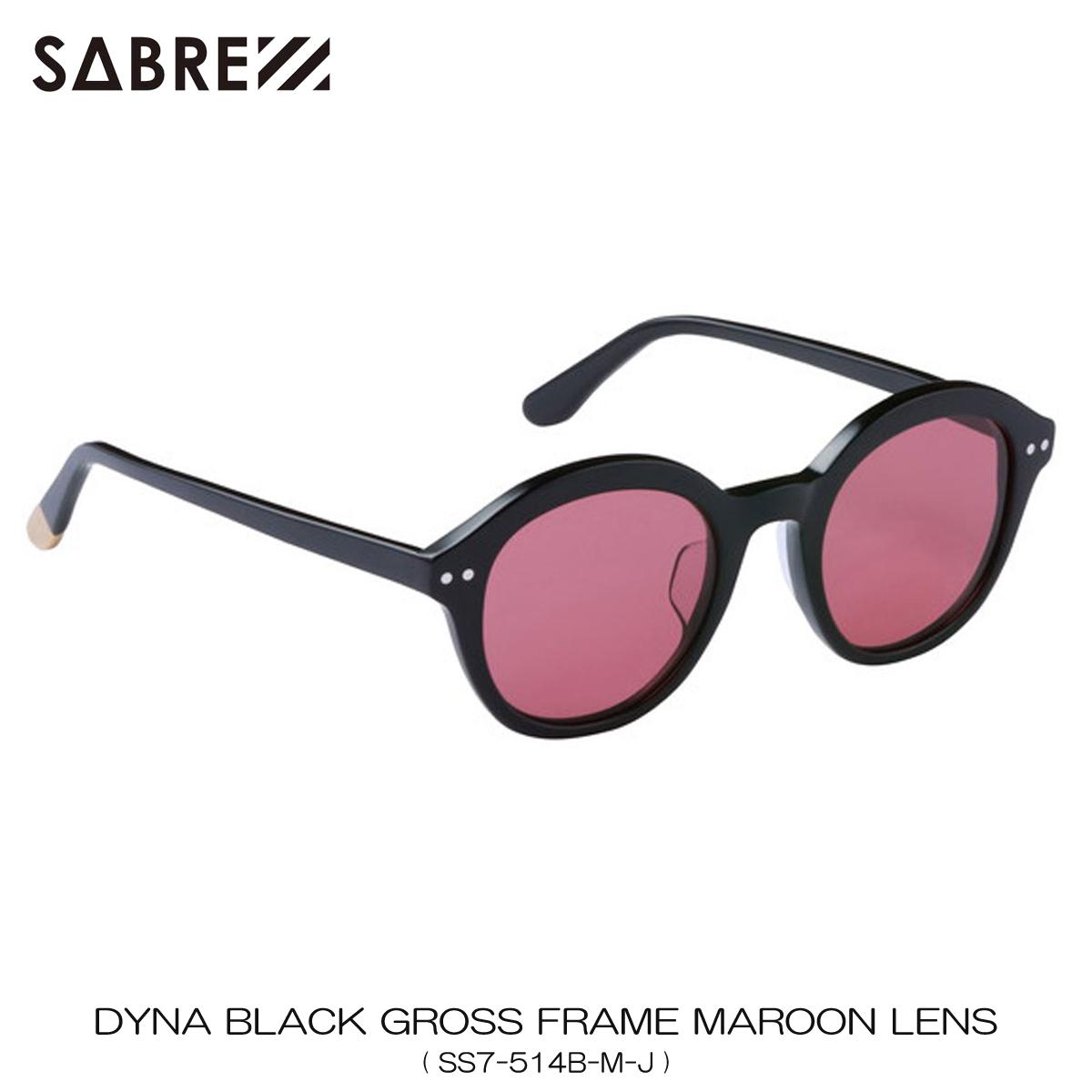 セイバー SABRE 正規販売店 サングラス めがね DYNA BLACK GROSS FRAME MAROON LENS SUNGLASS SS7-514B-M-J