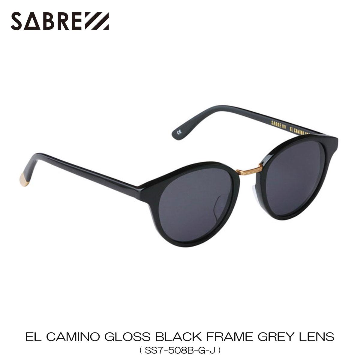 セイバー SABRE 正規販売店 サングラス めがね EL CAMINO BLACK GROSS FRAME GREY LENS SUNGLASS SS7-508B-G-J 敬老の日 プレゼント
