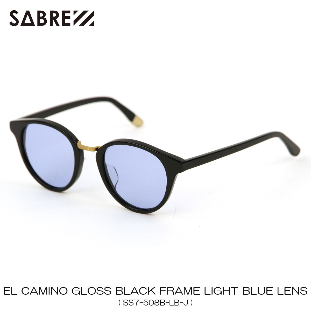 セイバー SABRE 正規販売店 サングラス めがね EL CAMINO BLACK GROSS FRAME LIGHT BLUE LENS SUNGLASS SS7-508B-LB-J 敬老の日 プレゼント