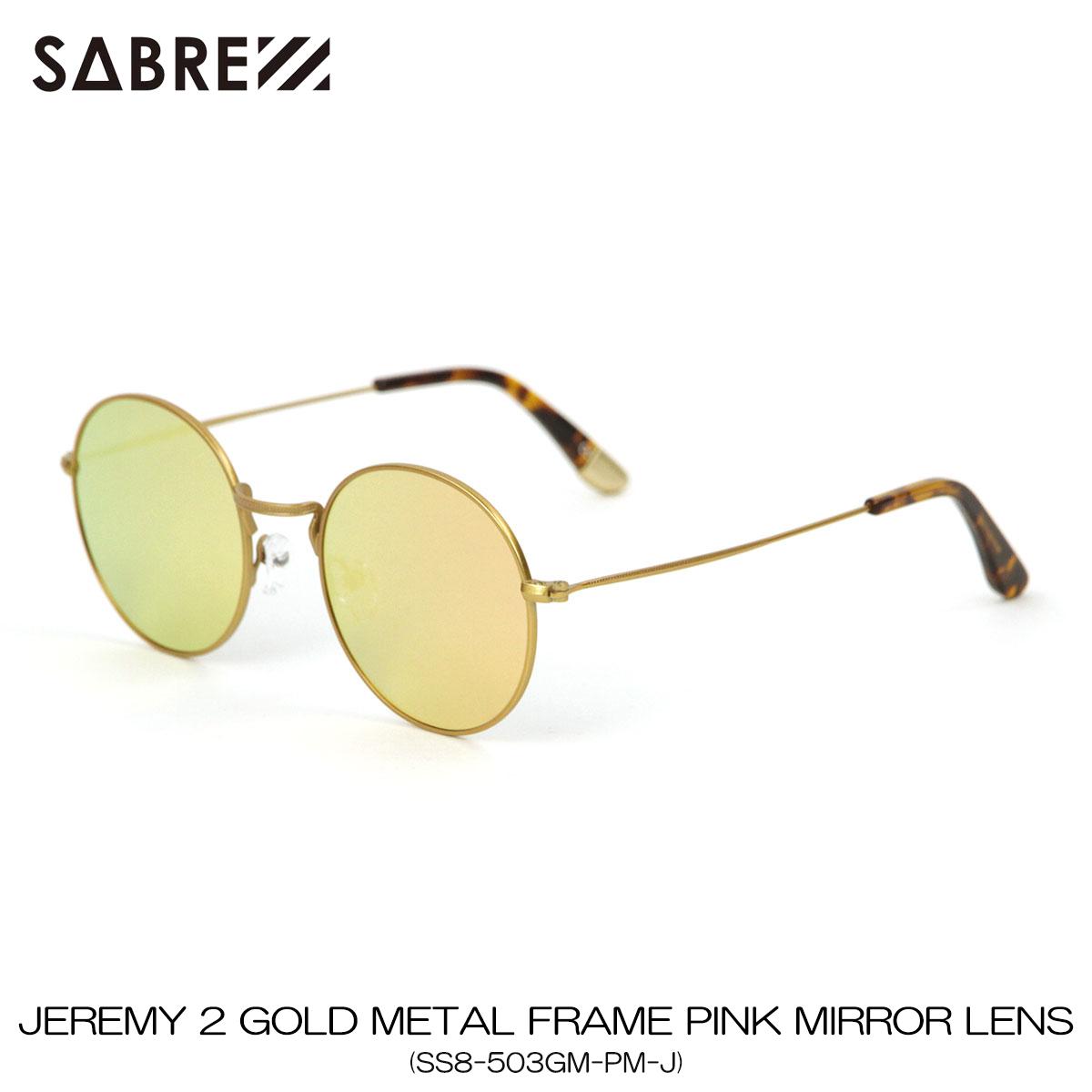 セイバー SABRE 正規販売店 サングラス めがね JEREMY 2 GOLD METAL FRAME PINK MIRROR LENS SUNGLASS SS8-503GM-PM-J