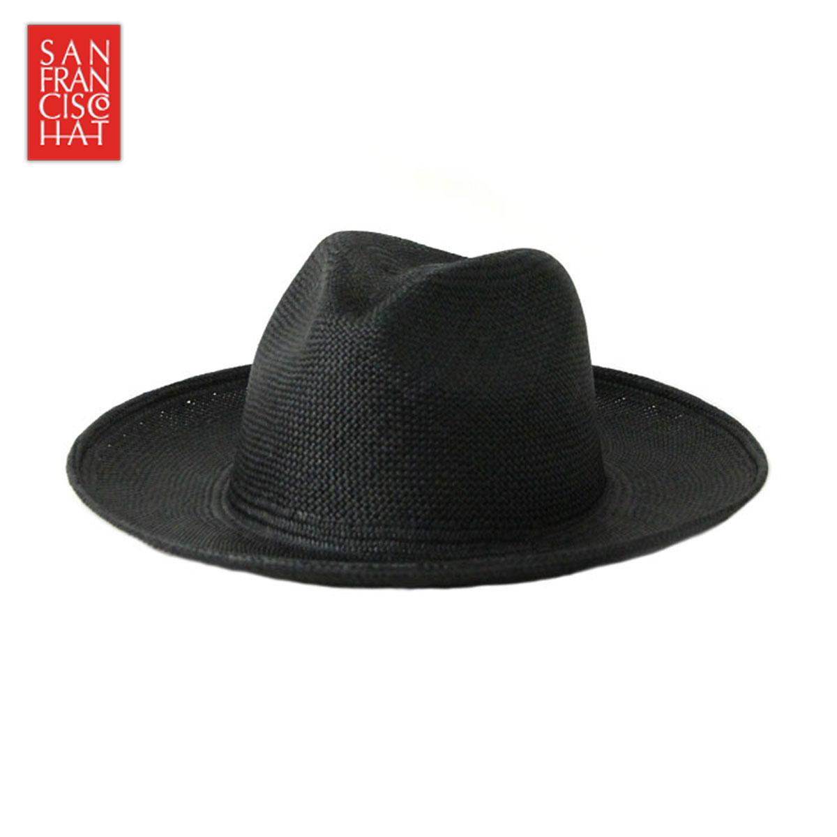 【ポイント10倍 6/4 20:00~6/11 01:59まで】 サンフランシスコハット SANFRANCISC HAT 正規販売店 正規品 帽子 ハット BRISA FEDORA 8CM BLACK D00S20 父の日