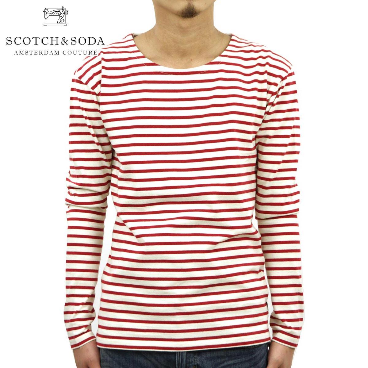 スコッチアンドソーダ SCOTCH&SODA 正規販売店 メンズ 長袖Tシャツ Worked Out Long Sleeve Breton 100072 A1 D00S20