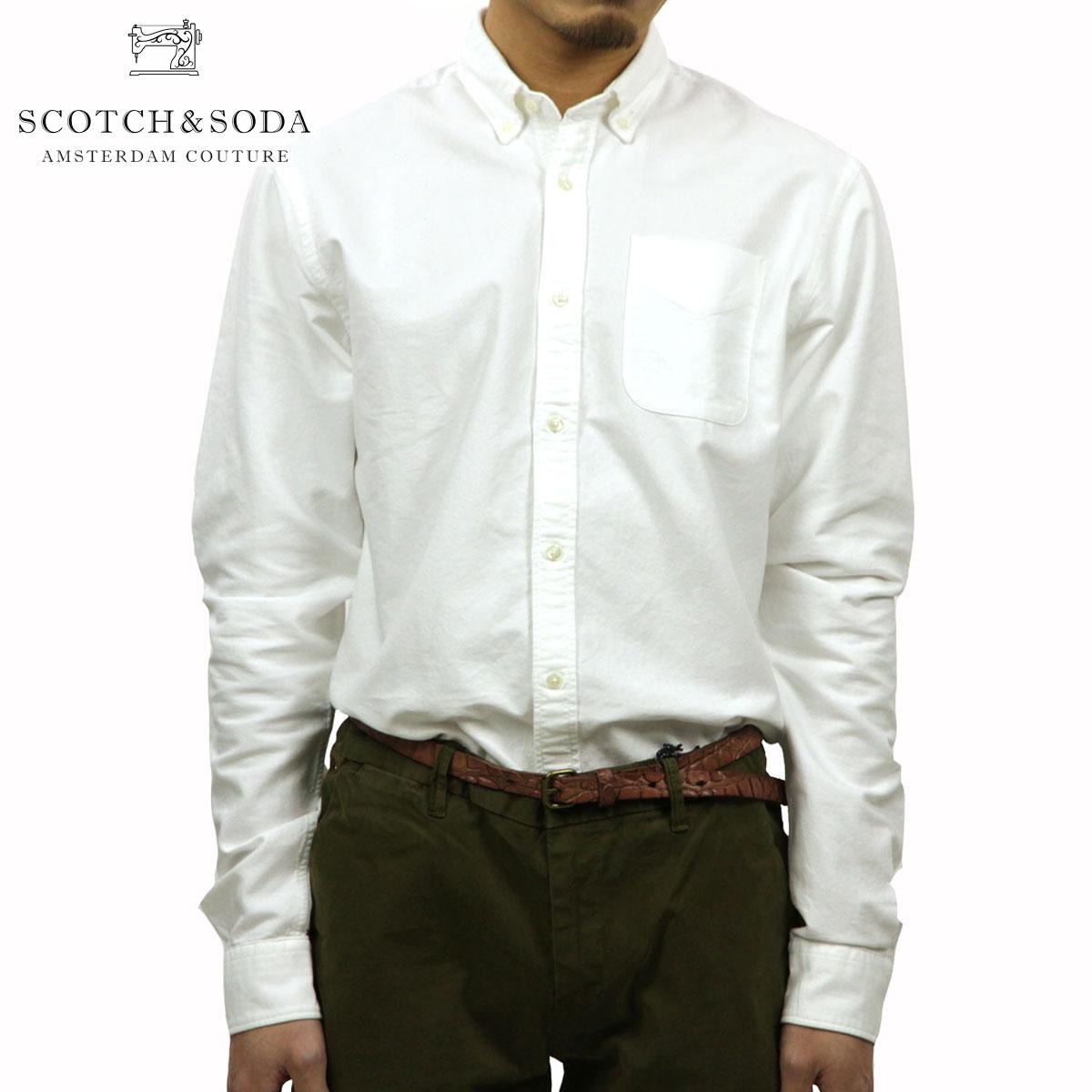 スコッチアンドソーダ SCOTCH&SODA 正規販売店 メンズ 長袖シャツ Classic shirt in rough oxford quality 101404 06 D00S20
