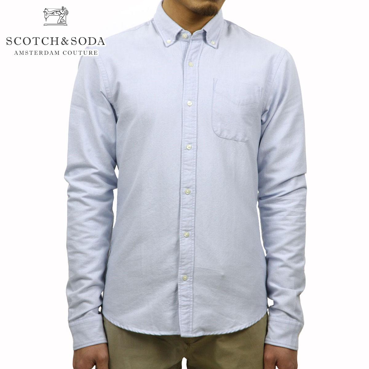 スコッチアンドソーダ SCOTCH&SODA 正規販売店 メンズ 長袖シャツ Classic shirt in rough oxford quality 101404 65 D00S20