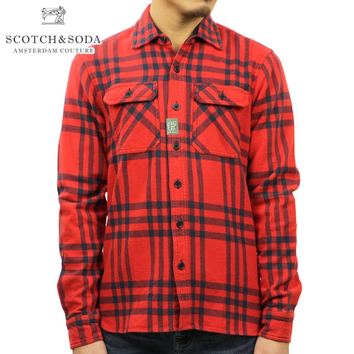 スコッチアンドソーダ SCOTCH&SODA 正規販売店 メンズ 長袖シャツ Brushed Flannel Oversized Shirt 100031 C D00S20