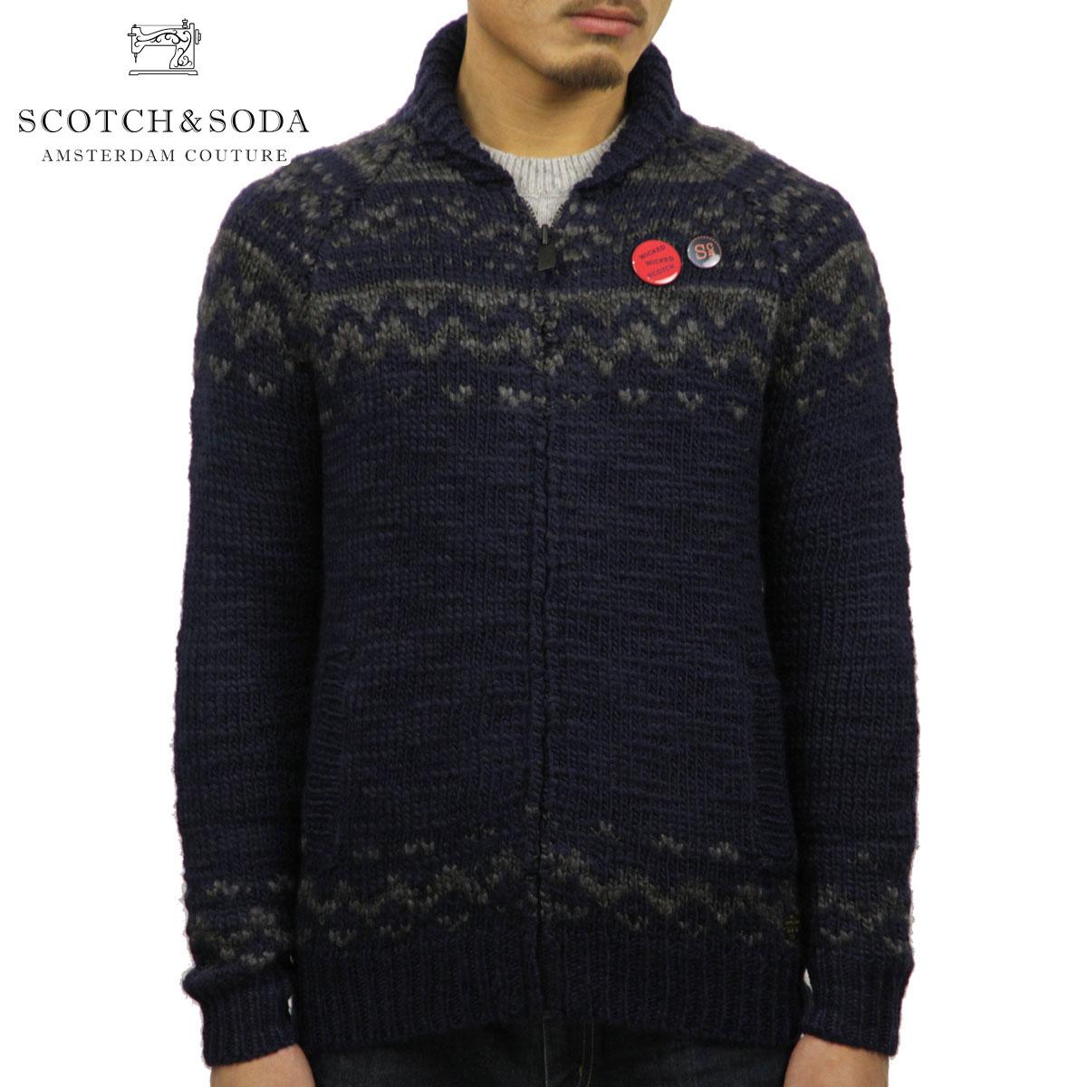 スコッチアンドソーダ セーター メンズ 正規販売店 SCOTCH&SODA Zip-thru cardigan in chunky slub yarn knit 101655 18