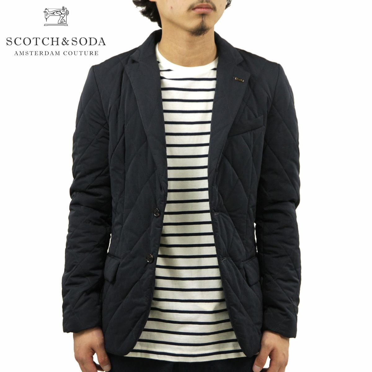 スコッチアンドソーダ SCOTCH&SODA 正規販売店 メンズ アウタージャケット Quilted blazer in peached nylon quality 101485 02 D00S20