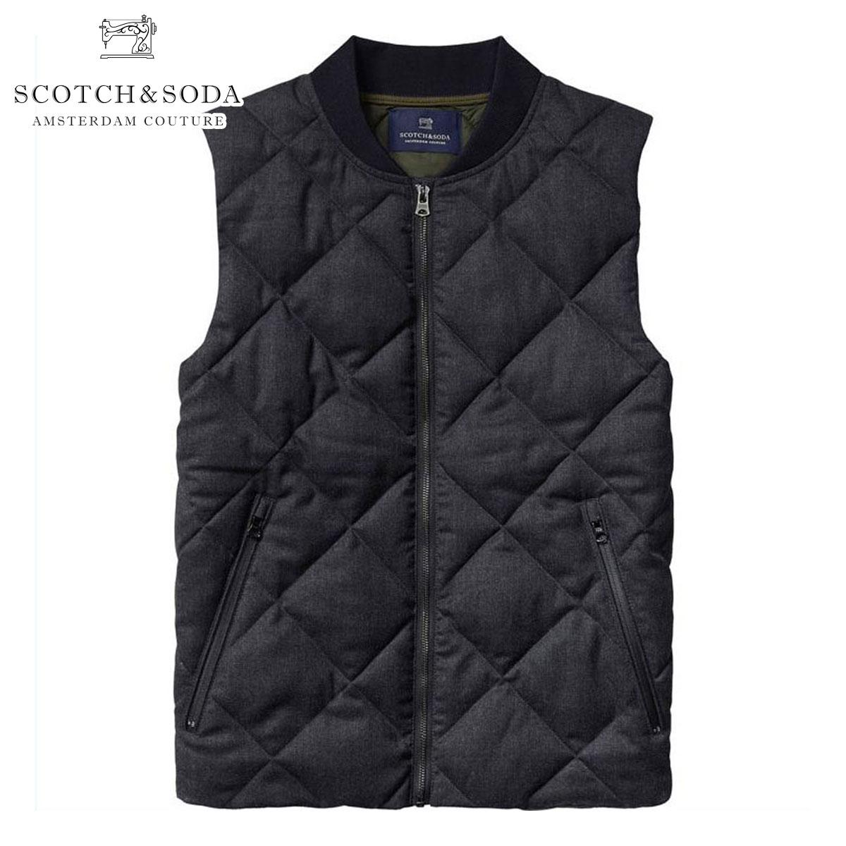 スコッチアンドソーダ SCOTCH&SODA 正規販売店 メンズ ベスト Quilted bodywarmer in wool quality 101753 4B D00S20