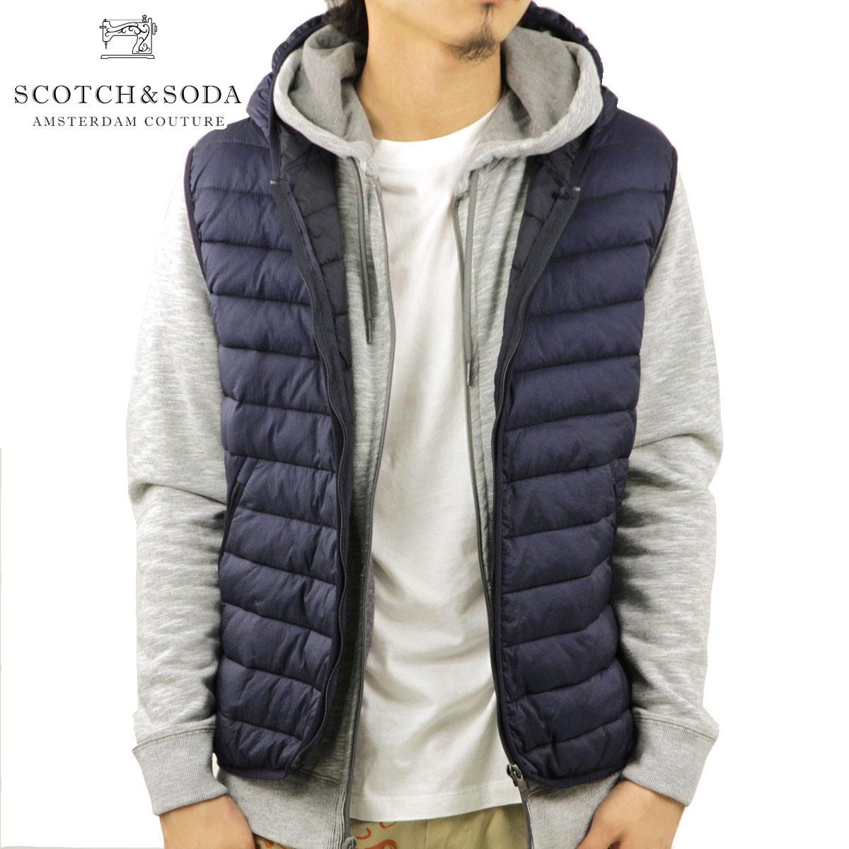 スコッチアンドソーダ SCOTCH&SODA 正規販売店 メンズ アウターベスト Hooded bodywarmer. 132159 57 D00S20