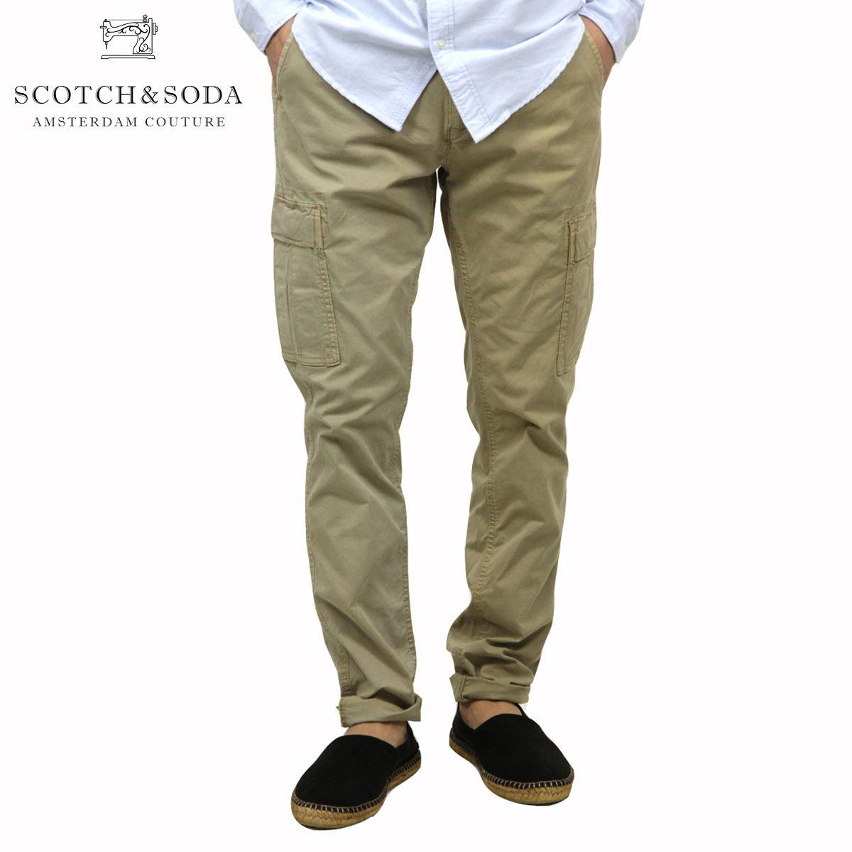 スコッチアンドソーダ SCOTCH&SODA 正規販売店 メンズ コットンパンツ Classic garment dyed combat pant 101725 37 D00S20