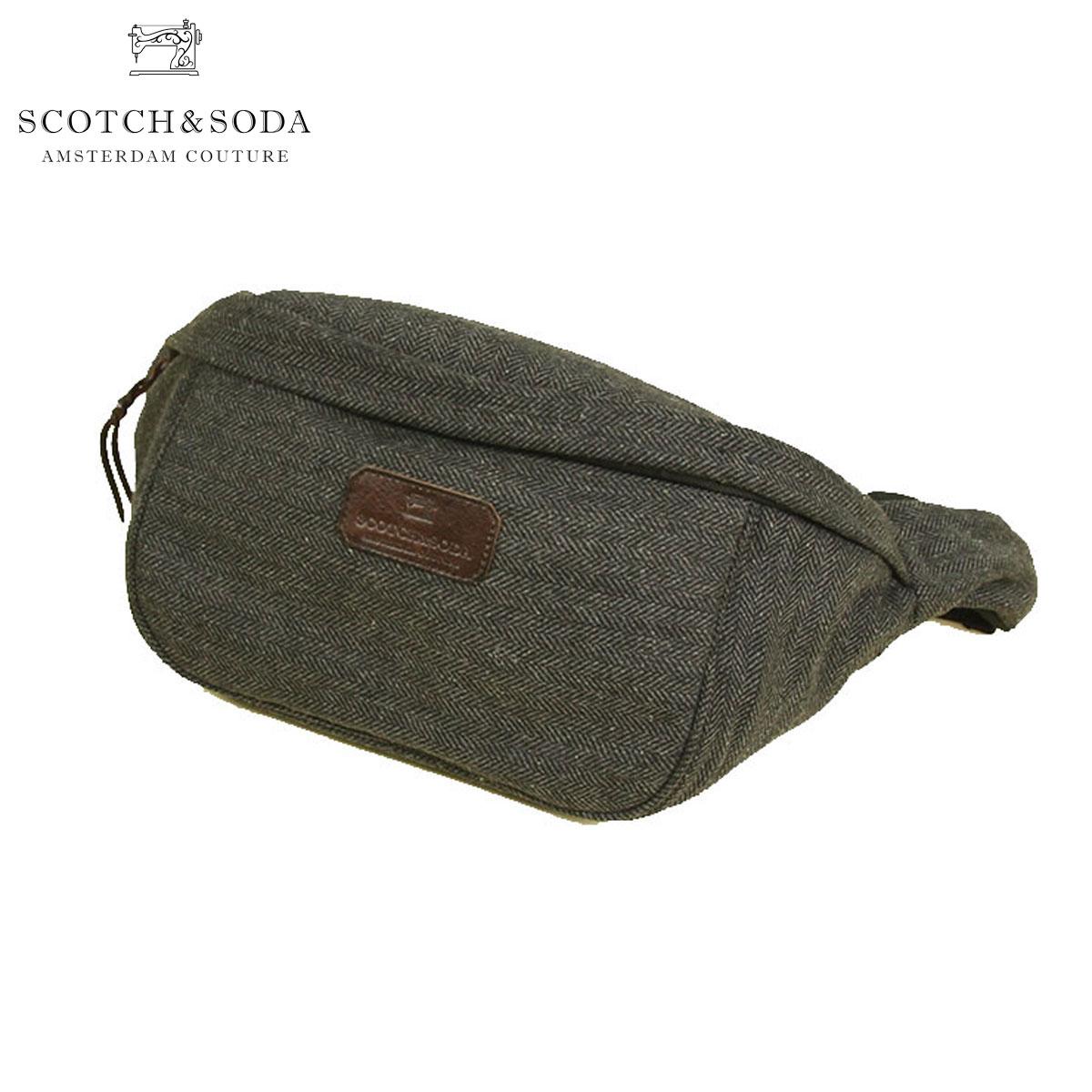 スコッチアンドソーダ SCOTCH&SODA 正規販売店 バッグ Bumbag in wool quality with herringbone pattern 101835 17 D00S20